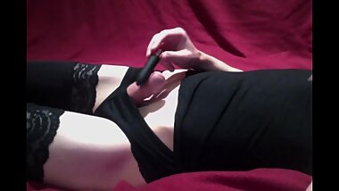 Femboy Crossdresser Teases With A Vibrator