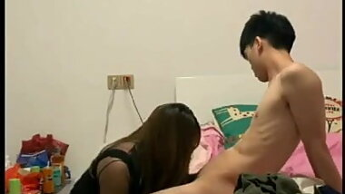 Asian CD And Her Young Lover Have Sex