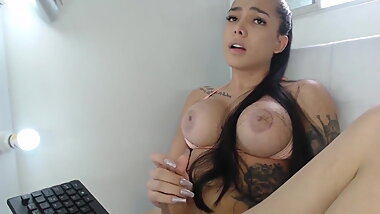 Hot Shemale With Big Tits And Cock Full Webc Show By RubinPL
