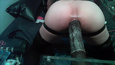 Sissy Femboi vs BBC Dildo  Ass Destruction