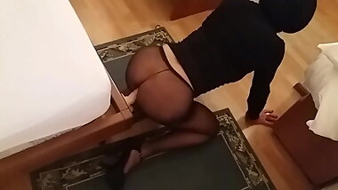 Fucking dildo in panty hose... She is so hot