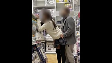Latina crossdresser sissy gets pounded in middle of store